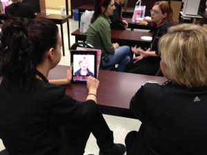 Each participant received a virtual makeover using an iPad app.