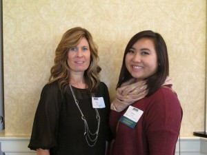 Kaboa Yang and instructor, Dayna Hunt at the luncheon