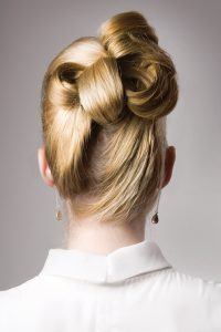 Classic up do with a twist.