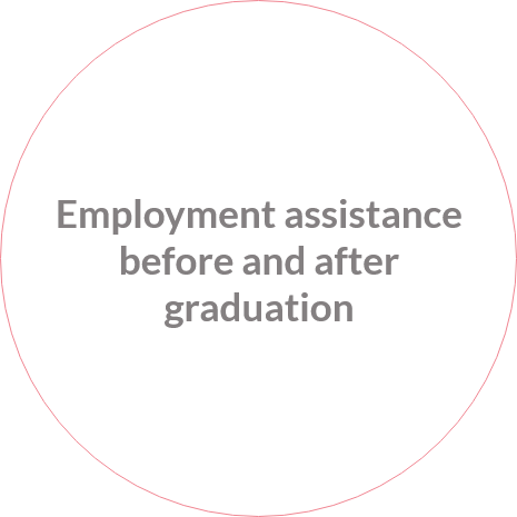 employment assistance before and after graduation